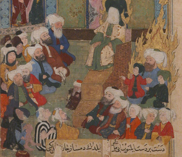 הנביא מוחמד מטיף