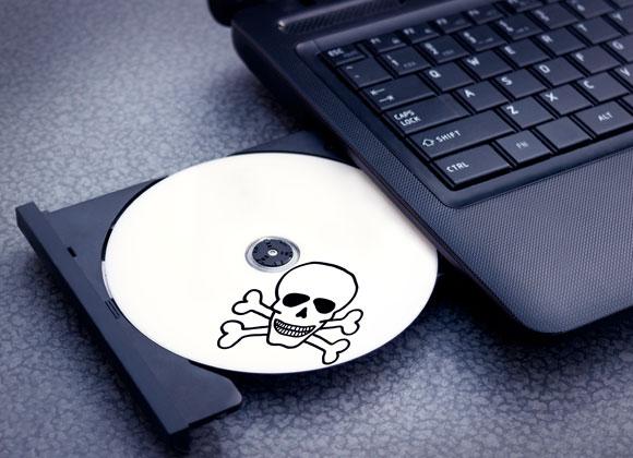תקליטור זדוני במחשב נייד