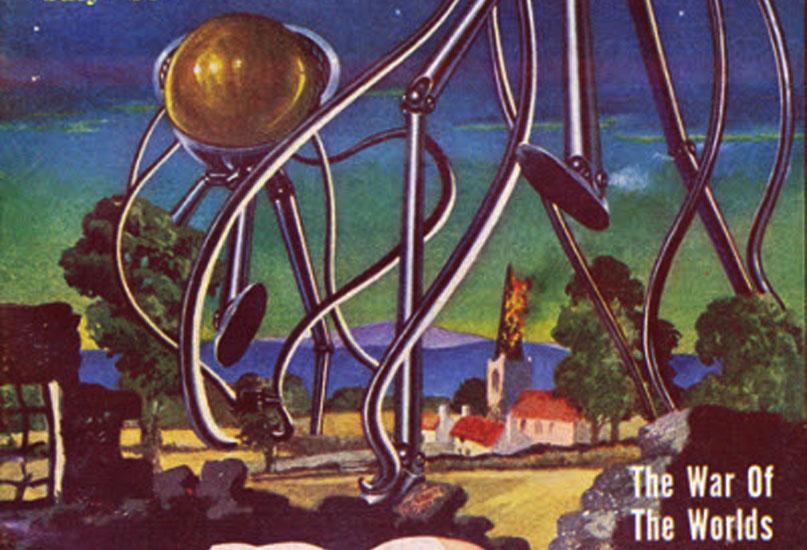 מלחמת העולמות. מכריכת Famous Fantastic Mysteries, יולי 1951. נחלת הכלל