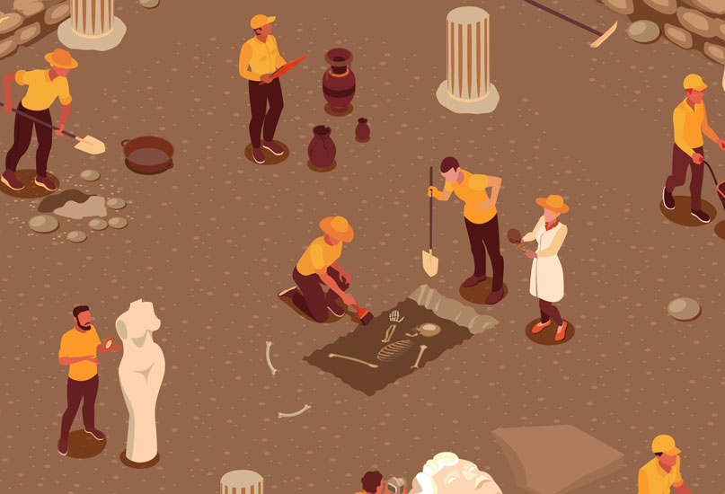 חפירה ארכיאולוגית. איור: שאטרסטוק