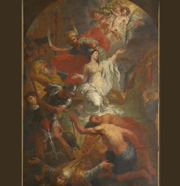 ציור עריפתה של דימפנה הקדושה