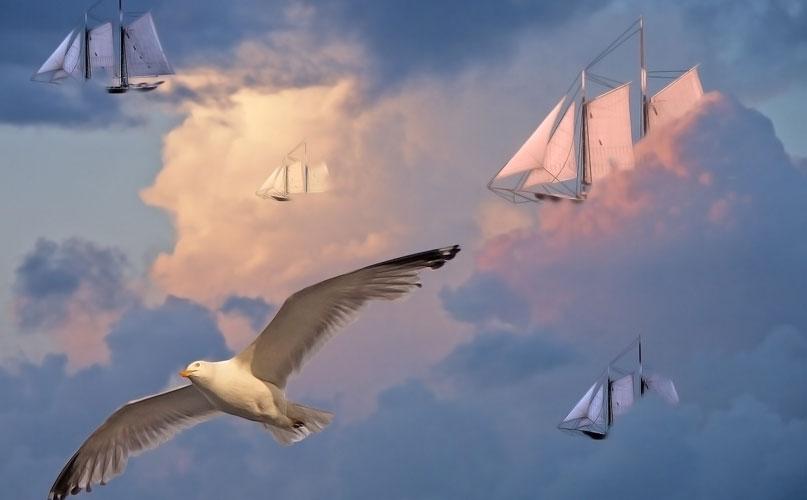 ספינות מרחפות באוויר